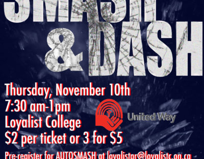 Come to Smash & Dash to Help Smash Poverty, Hunger and Homelessness!