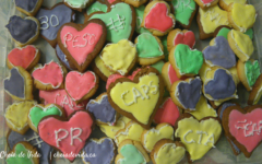 PR themed conversation heart cookies